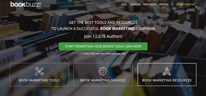 BookBuzzr Homepage 2020